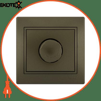 Lezard 701-3131-117 диммер 500 вт с фильтром и предохранителем 701-3131-117 цвет светло-коричневый металлик 10ах 250v~