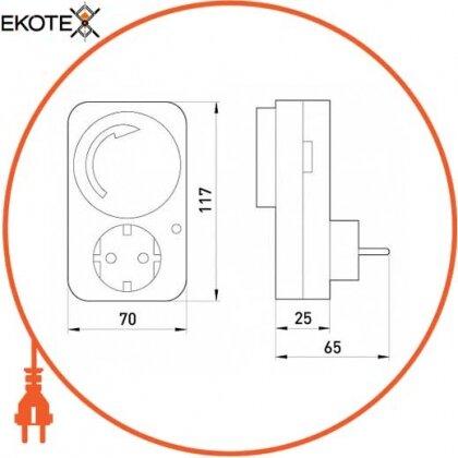 Enext i0310019 реле времени электромеханическое розеточное недельное e.control.t12
