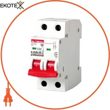 Enext p042020 модульный автоматический выключатель e.mcb.pro.60.2.c 32 new, 2р, 32а, c, 6ка new