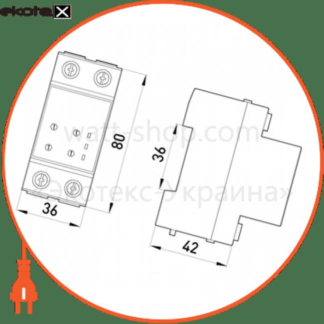 реле контролю напруги однофазне e.control.v01, 25а