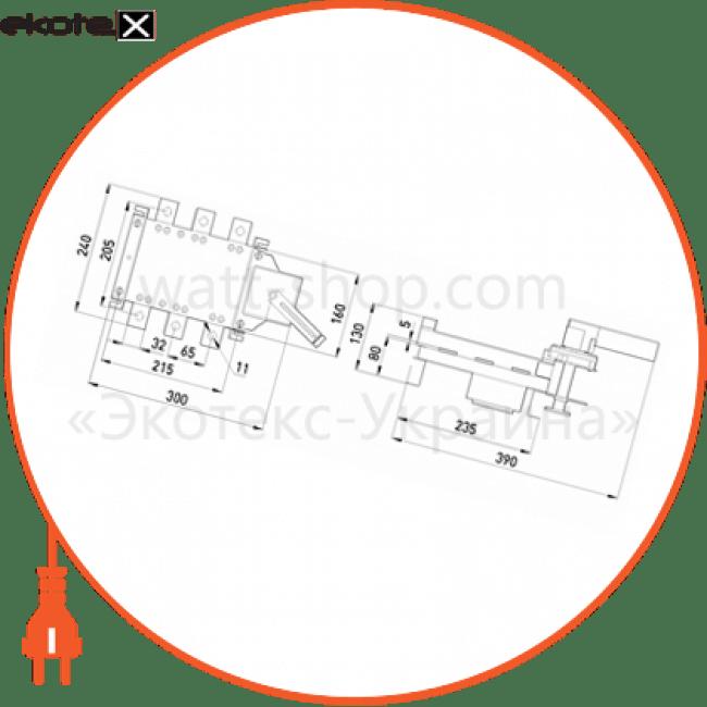вимикач-роз'єднувач навантаження e.industrial.ukgz.315.3, 3р, 315а, з боковою рукояткою управління выключатели-разъединители Enext i0590013