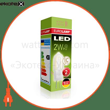 eurolamp led лампа g4 пластик 2w 3000k 12v светодиодные лампы eurolamp Eurolamp LED-G4-0227(12)P