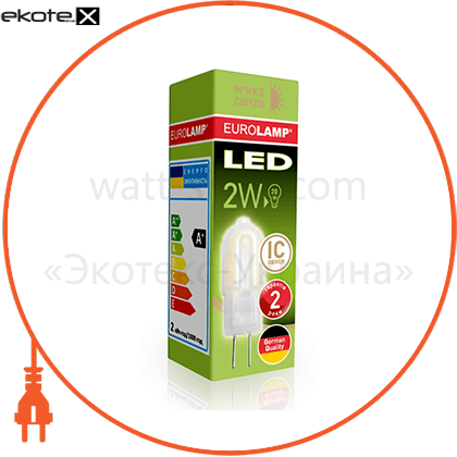 eurolamp led лампа капсульна plastic g4 2w g4 3000k 12v (1000) светодиодные лампы eurolamp Eurolamp LED-G4-0227(12)P