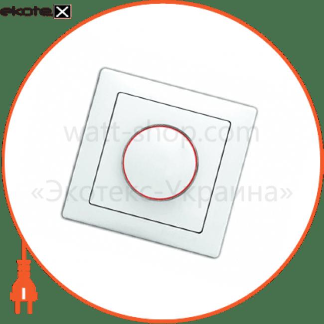 10040345 Delux диммер вимикач wega 9101 реостатного типу 800вт (димер) крем