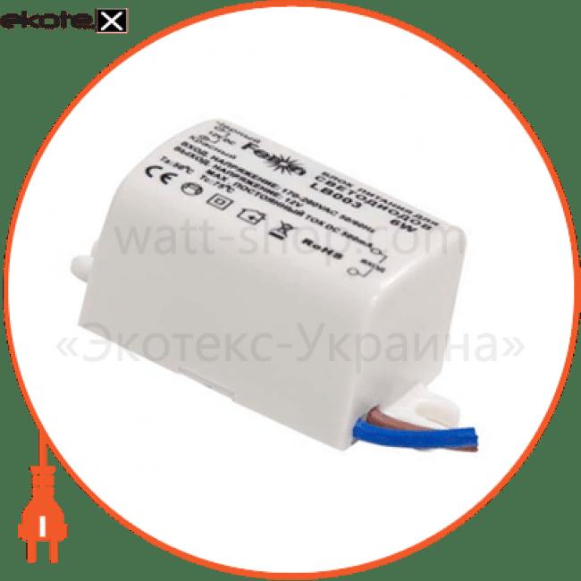21480 Feron блоки питания трансформатор электронный для светод. ленты lb003 6w 12v (драйвер)