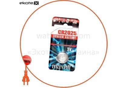 "Maxell 11239200 литиевая батарейка maxell ""таблетка"" cr2025  1шт/уп"