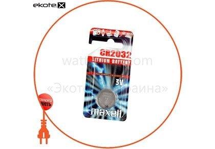 "Maxell 11238500 литиевая батарейка maxell ""таблетка"" cr2032 1шт/уп"