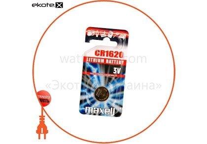 "Maxell 11238400 литиевая батарейка maxell ""таблетка"" cr1620  1шт/уп"