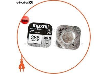 """Maxell 18288700 оксид-серебряно-цинковые  батарейка maxell """"таблетка"""" sr43w 1шт/уп"""