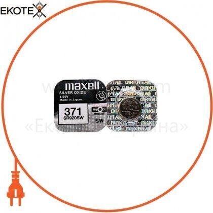 """Maxell 18290100 серебряно-оксидная батарейка maxell """"таблетка"""" sr920sw 1шт / уп"""