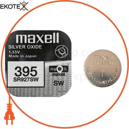 """Maxell 18289900 серебряно-оксидная батарейка maxell """"таблетка"""" sr927sw 1шт / уп"""