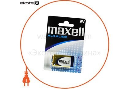 Maxell 723761.04 щелочная батарейка maxell alkaline 9v/6lr61 крона 1шт/уп blister