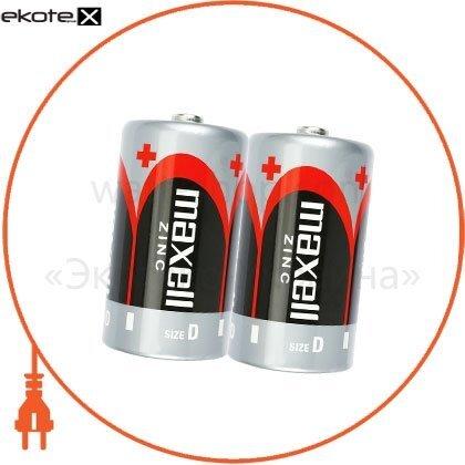 Maxell 774402.00 солевая батарейка maxell r20 2шт/уп shrink