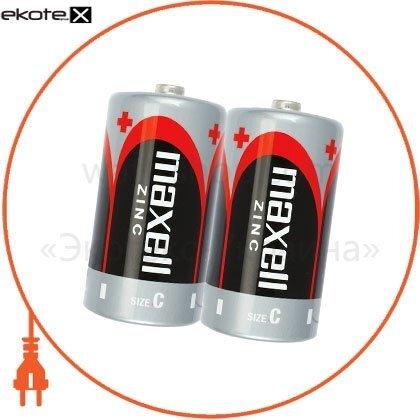 Maxell 774404.00 солевая батарейка maxell r14 2шт/уп shrink