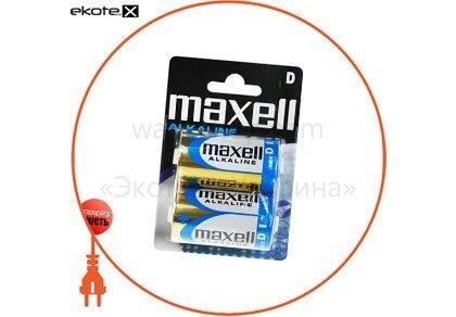 Maxell 774410.04 щелочная батарейка maxell alkaline d/lr20 2шт/уп blister