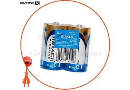Maxell 790215.01 щелочная батарейка maxell alkaline c/lr14 2шт/уп shrink