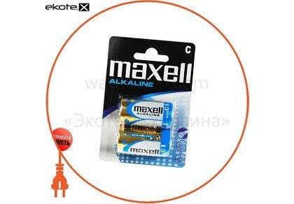 Maxell 774417.04 щелочная батарейка maxell alkaline c/lr14 2шт/уп blister