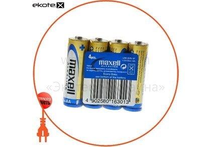 Maxell 790223.04 щелочная батарейка maxell alkaline aa/lr6  4шт/уп shrink