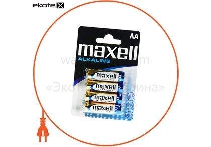 Maxell 723758.04 щелочная батарейка maxell alkaline aa/lr6 4шт/уп blister