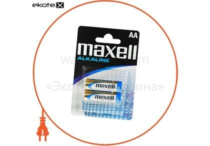 Maxell 790321.04 щелочная батарейка maxell alkaline aa/lr6 2шт/уп blister