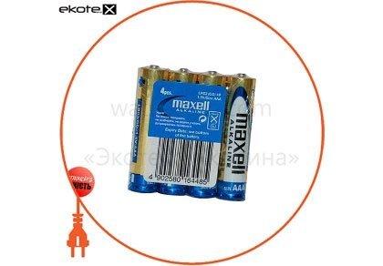 Maxell 790233.04 щелочная батарейка maxell alkaline maxell aаa/lr03 4шт/уп shrink