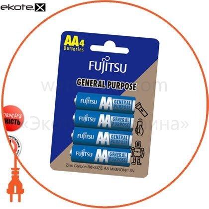FUJITSU 30211 солевая батарейка fujitsu аа/r6 4шт/уп blister