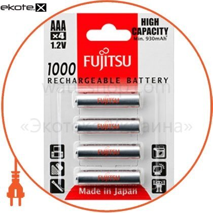 FUJITSU FDKB00012 аккумулятор fujitsu high capacity ni-mh ааа/r03 4шт/уп blister