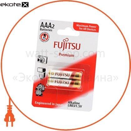 FUJITSU 84050 щелочная батарейка fujitsu alkaline premium ааа/lr03 2шт/уп blister