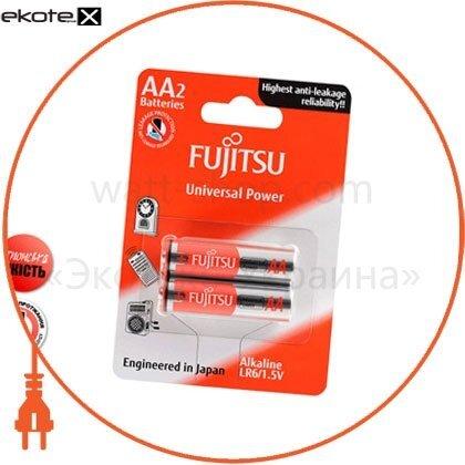 FUJITSU 86240 щелочная батарейка fujitsu alkaline universal power  аа/lr6 2шт/уп blister