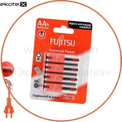FUJITSU 86300 щелочная батарейка fujitsu alkaline universal power  аа/lr6 4шт/уп blister
