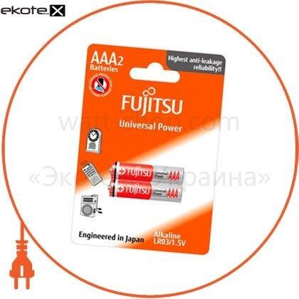 FUJITSU 86350 щелочная батарейка fujitsu alkaline universal power  ааa/lr03 2шт/уп blister