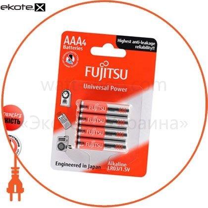 Щелочная батарейка FUJITSU Alkaline Universal Power  ААА/LR03 4шт/уп blister