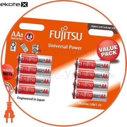 FUJITSU 94990 щелочная батарейка fujitsu alkaline universal power  аа/lr6 8шт/уп blister