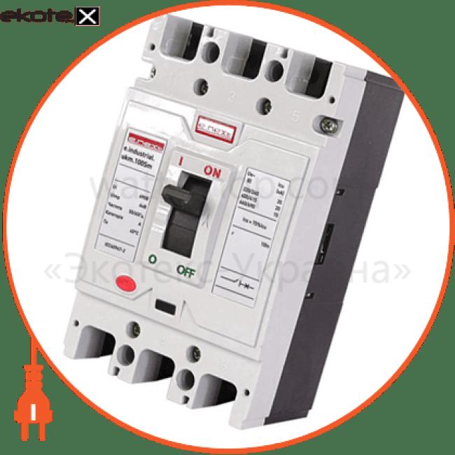 шкафной автоматический выключатель e.industrial.ukm.100sm.80, 3р, 80а силовые автоматические выключатели Enext i0650009