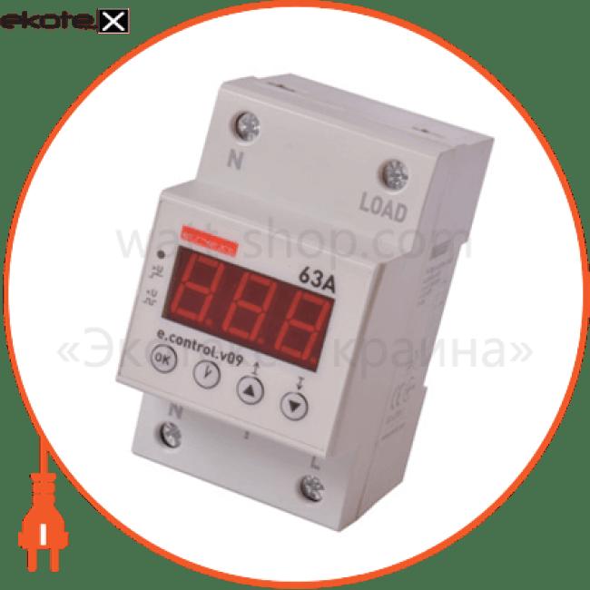реле контролю напруги однофазне 63а з індикацією e.control.v09
