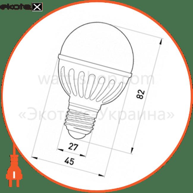 Лампа светодиодная e.save.LED.G45M.E27.5.4200 тип шар, 5Вт, 4200К, Е27 (ал)