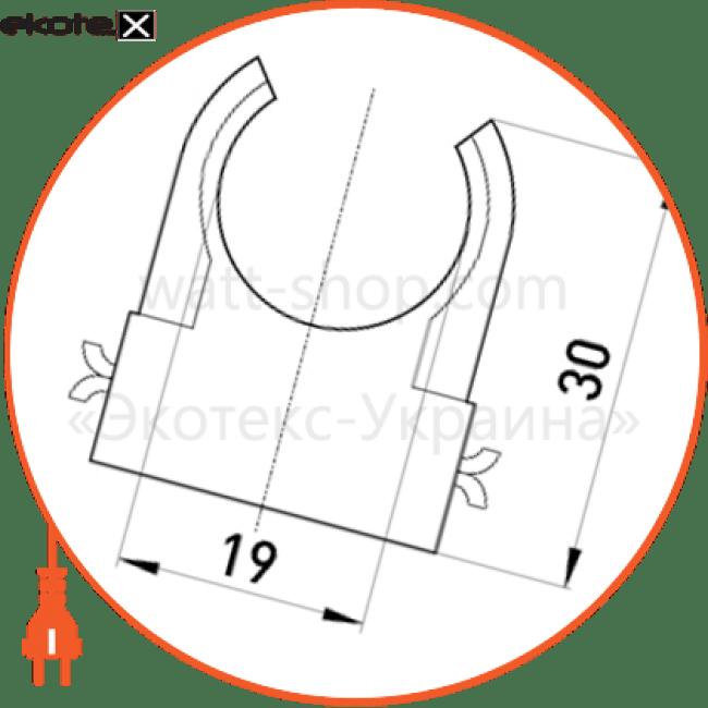 s12035002 Enext трубы металлические и аксессуары s-образна кліпса e.pipe.s.clip.stand.20 для труб d20мм