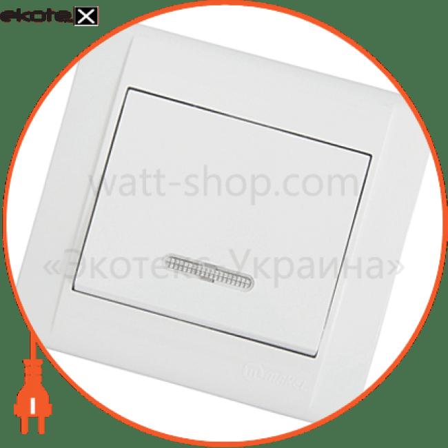 вимикач прохідний з підсвітленням выключатель Makel 42001025