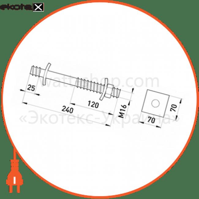 p033001 Enext арматура для сип прохідний болт e.com.bolt.pro.240.16, 240 мм, м16