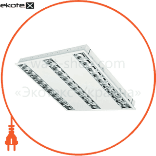 растровый светильник  dedra t5 dpb kit 3x14w/830 лампы в комплекте cветильники osram Osram