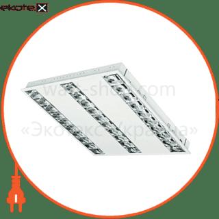 растровый светильник  dedra t5 dpb kit 3x14w/840  лампы в комплекте cветильники osram Osram