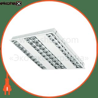 растровый светильник  dedra t5 dpb kit 4x14w/830 лампы в комплекте cветильники osram Osram 4008321366719