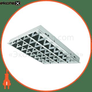 растровый светильник  dedra t5 vabs kit 4x14w/840 hf лампы в комплекте cветильники osram Osram