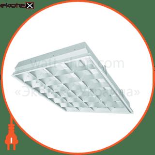 растровый светильник  dedra t8 vats kit 4x18w/840 hf  лампы в комплекте cветильники osram Osram