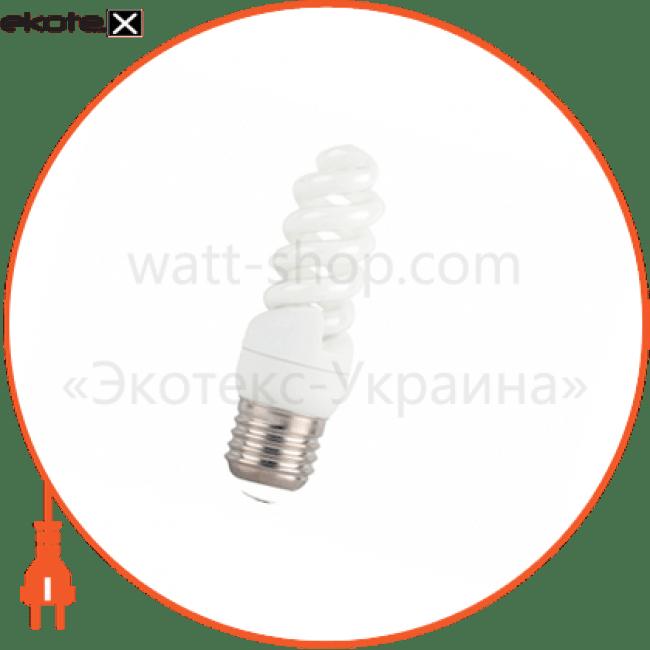 компактна люмінесцентна лампа delux t2 mini full-spiral 11вт 4100к е14