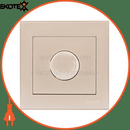 Lezard 703-3030-116 диммер 500 вт с фильтром 703-3030-116 цвет жемчужно-белый металлик 10ах 250v~