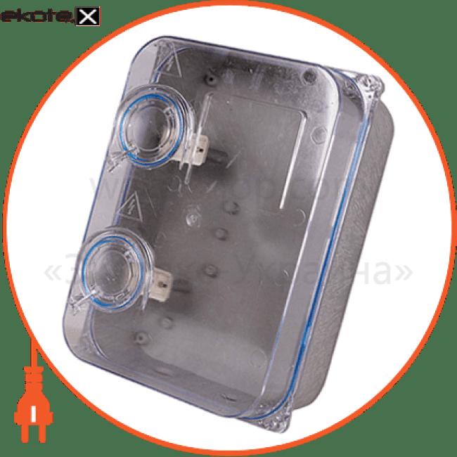 шафа пластикова e.mbox.stand.plastic.n.f3.прозора, під трифазний лічильник, навісна, з комплектом метизів корпуса пластиковые модульные Enext s0110004