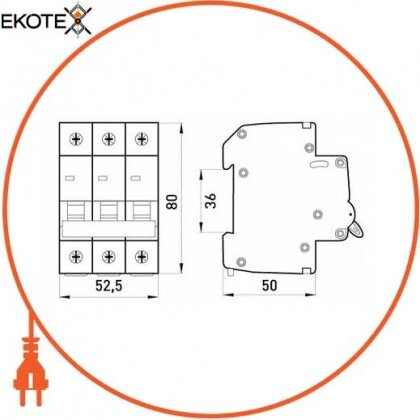 Enext p008010 выключатель нагрузки на din-рейку e.is.3.125, 3р, 125а