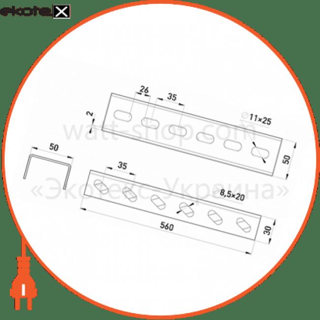 тримач лотка 560 мм знизу лотки металлические и аксессуары Enext A5-4-50