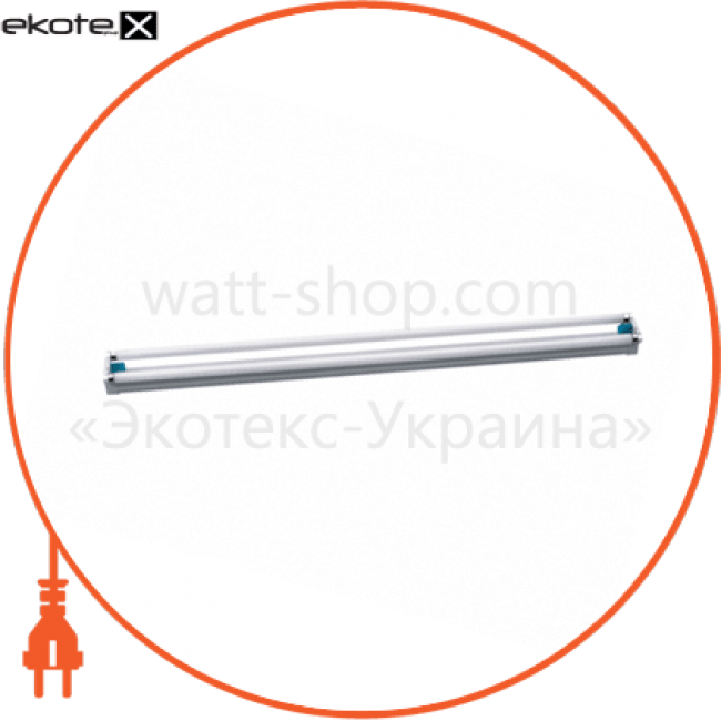 світильник люмінесцентний накладний балкового типу delux flp 2x30вт g13 промышленные светильники delux Delux 10008487